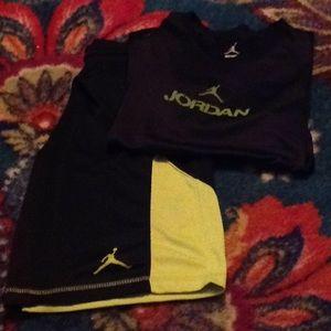 Nike Air Jordan matching shirt and shorts
